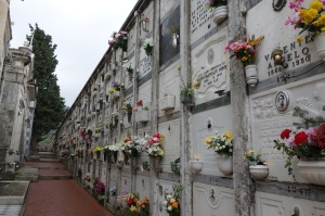 Tombs in the cemetery.