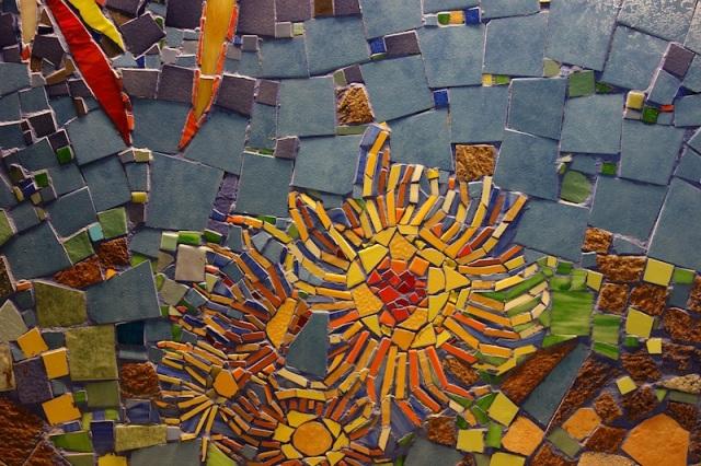 Tile mosaics.