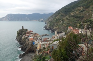 Vernazza, our destination.  From here we caught the train back to Monterosso.