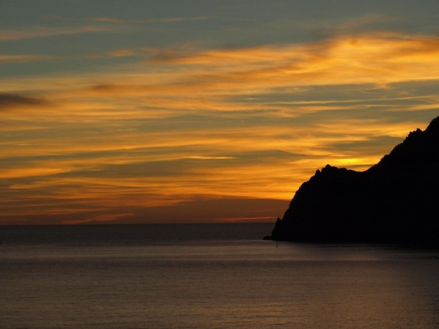 Another tranquil sunset at Monterosso.