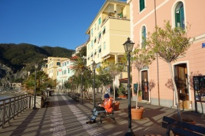 The new town area of Monterosso. Christmas Day and no tourists!