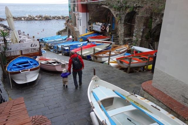 The small picturesque port of Riomaggiore.