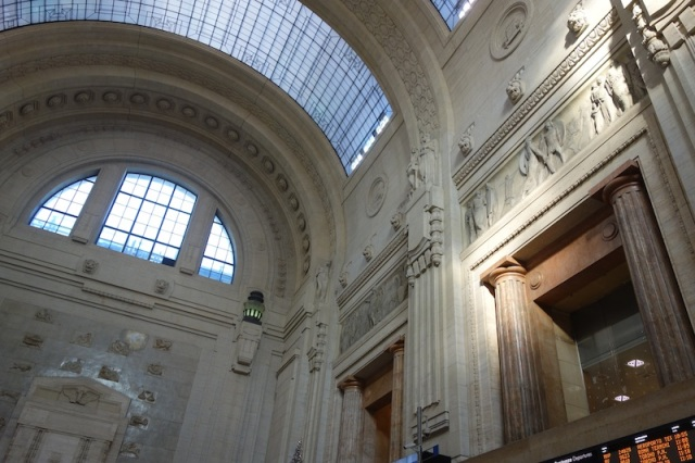 The interior of the station is a little more delicate, in fact architecturally, quite overwhelming