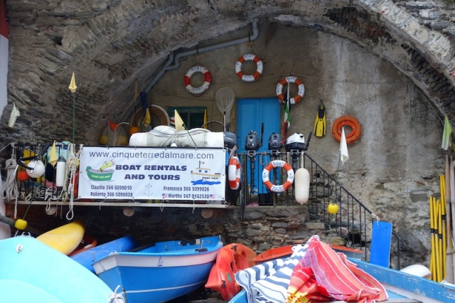 A most remarkable chandlery built into a cave.