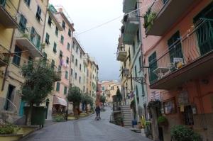 Riomaggiore's narrow street.
