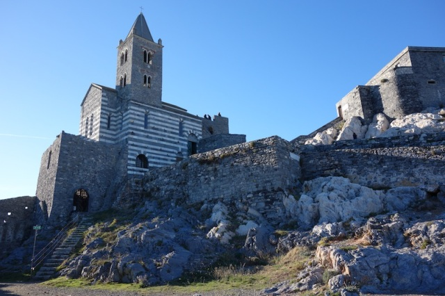 Church of San Pietro and fortifications at the end of the town.