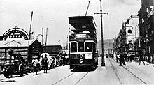 Tram on Connaught Road West in the 1930s. What's interesting about this picture is that the atmosphere is smog free and thus it is possible to see the distant hills.