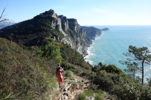 Spectacular clifftop walk from Campiglia to Porto Venere.