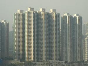 Shoebox apartments.  Hong Kong.
