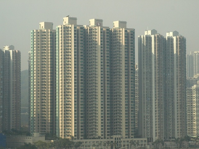 Shoebox apartments. Hong Kong.