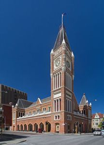 Perth Town Hall.  I took the tower photo but for some reason I didn't take the hall so I rely on JJ Harrison's image via Wikipedia for the above image. Thanks JJ.