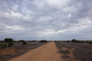 A side road similar to the Eyre Highway in the 1970s.