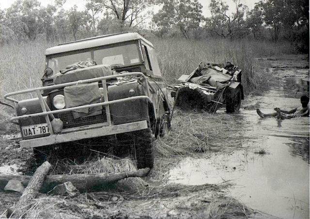 A good bog during our 1970 around Australia trip. The floating body is me.