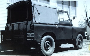 The Series 2a 'Rover' that took us around Australia.  This was an ex army officer's vehicle in immaculate condition.