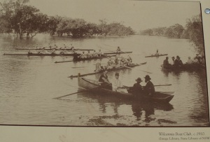 Wilcannia Boat Club playing on the mighty Darling River (circa 1910).