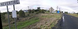 View east along the Mitchell Highway. Image pgoodwin via Wikipedia.