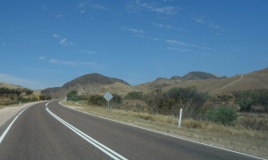 The arid country near Port Augusta.   I think it was in this vicinity that the photograph of the Indian Pacific was taken.