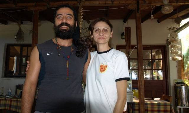 Café owners Dimitris and Katerina Samothraki