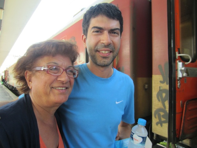 Litsa and son Dimitri Thessaloniki Greece.
