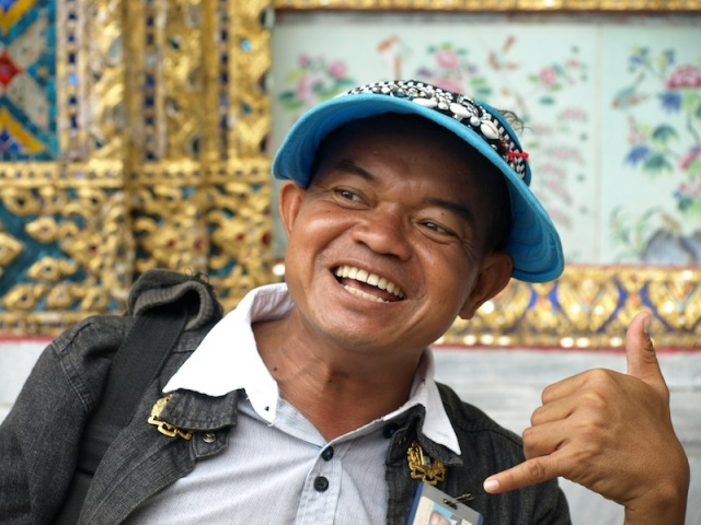 Our cheerful guide in Bangkok.