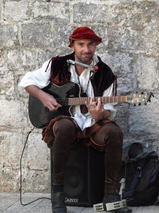 Gentle guitarist in Dubrovnik.  We bought one of his CDs so at least we can have his music with us as we go.