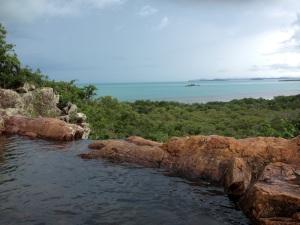 An island rock pool.