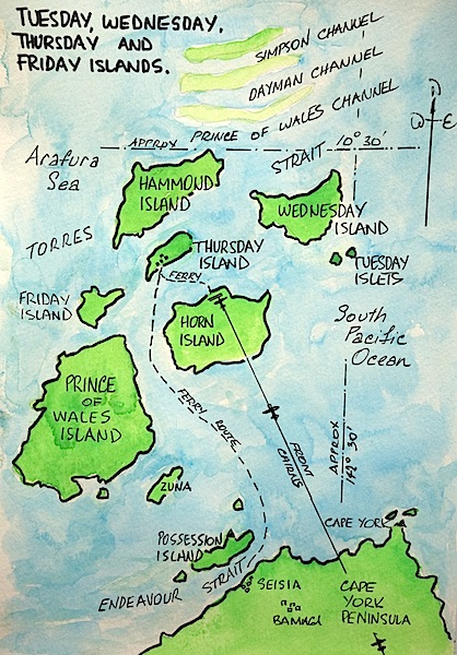 Map showing the Inner Western group of islands.