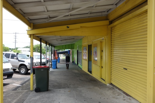 Shops in the main street, Thursday Island.