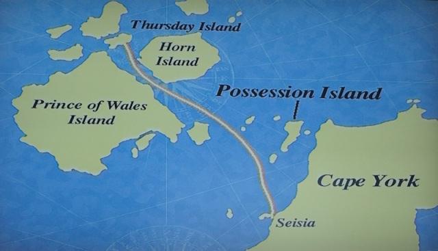 Seisia to Thursday Island ferry route.