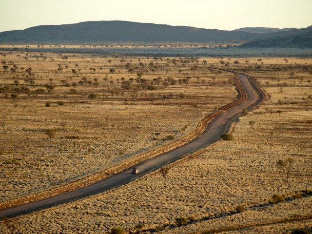 Travel free like this? The road to Pipalyatjara Aboriginal community in the far northwest of South Australia.
