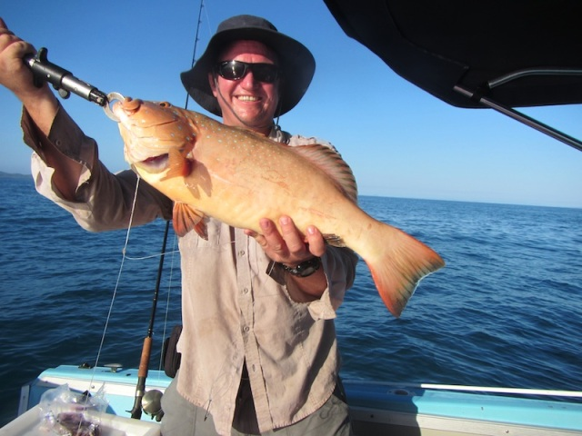 "Be able to catch a fish like this? Tim, our eldest son, enjoying the ""Lucky Country""."