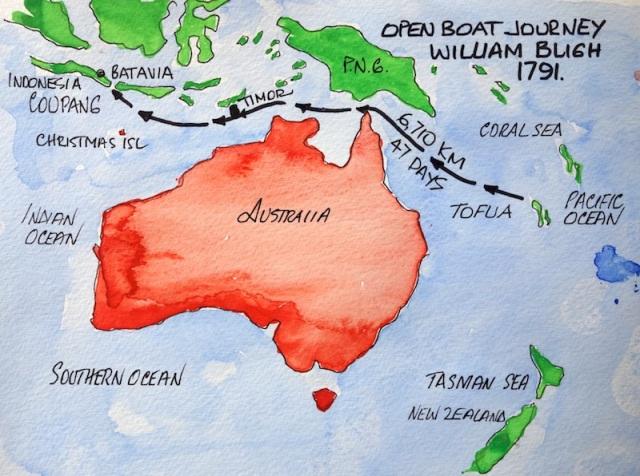 Bligh's open boat journey.