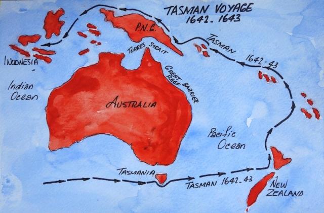 Tasman voyages.