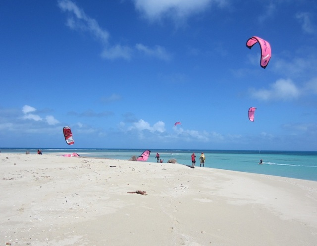 Kite surfers arrive. Tough and fit is all I can say about these intrepid adventurers.