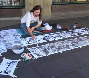 James Kite, street artist extraordinaire.