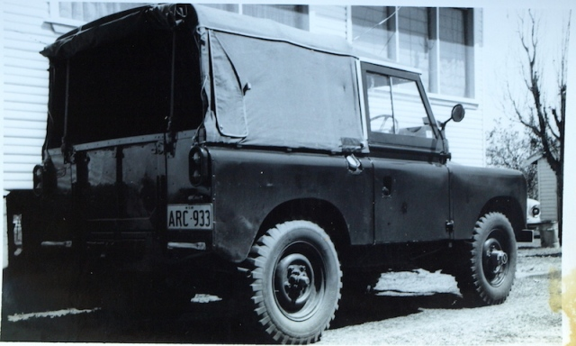 I spotted this Series 2a ex army Landrover in a car lot in Narrabri.