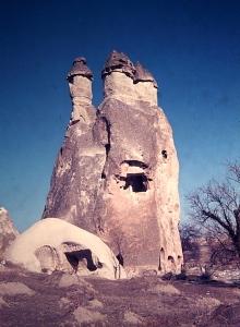 A fairy chimney 'McMansion' circa 12th century.