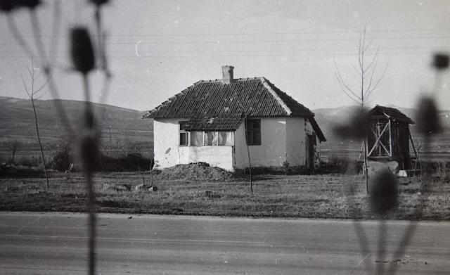 Mudbrick cottage Hungary 1972.