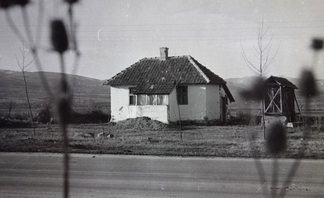 Mudbrick cottage Hungary 1972.