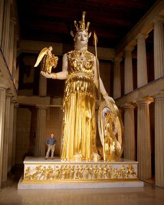 Athena may be lost but not forgotten, thanks to Alan LeQuire.   Photo by Dean Dixon via Wikipedia.