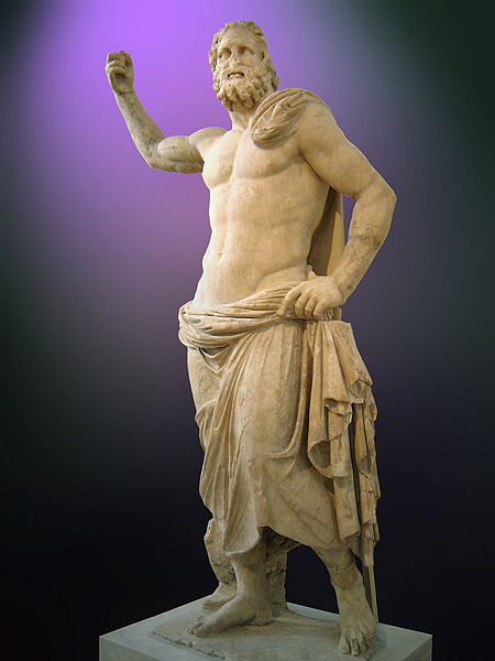 Poseidon to the Greeks and Neptune to the Romans. Somewhere along the way he has lost his trident. Image by Ricardo Andre Frantz via Wikipedia.