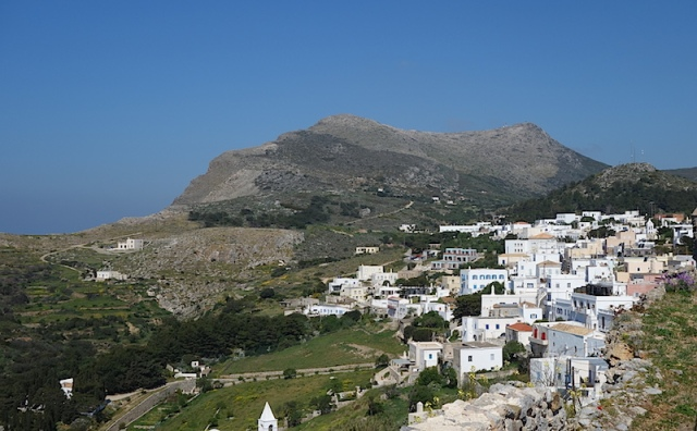 Chora, the capital of Kythera, where Aleko continued his education.