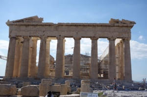 Rear end of the Parthenon.