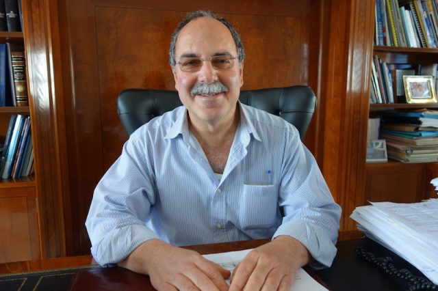 Mr Kakoulos, mayor of Kythera, an archaeologist by profession.