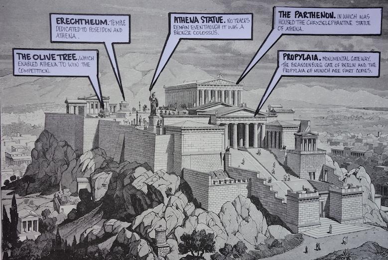 Greece Athens Acropolis Parthenon And Gods Of Greece