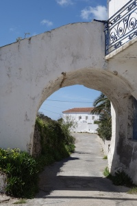 Through the arch is the house in Potamos where Aleko was born and lived as a child.  It has been recently sold and renovated.