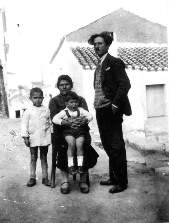 Aleko, mother Metaxia, brother Tzaneto (John) and Aleko's father Panayiotis (Peter). This photograph was taken just prior to Peter leaving for Australia in 1937.