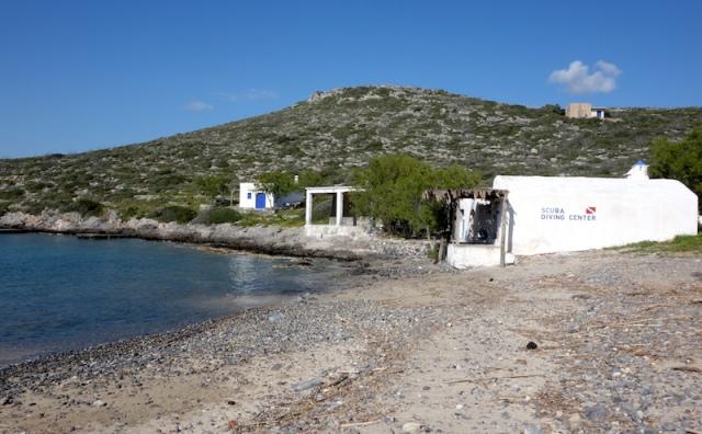 Scuba diving centre at Limnionas