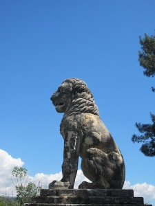 The five metre high (my estimation) Laomedon Lion Memorial monument.  It is dated to the late fourth century B.C.