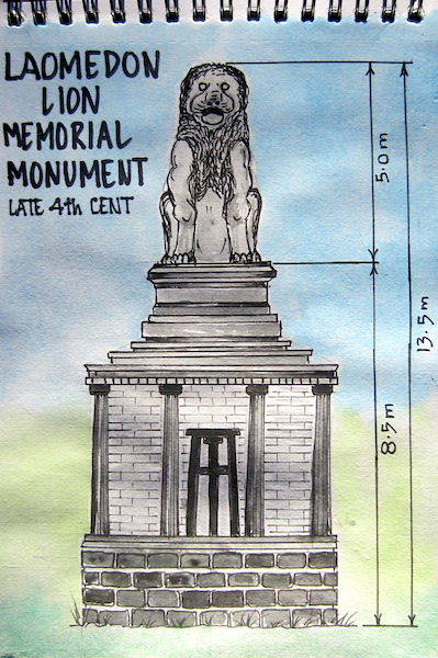 My sketch of the Lion Memorial Monument.